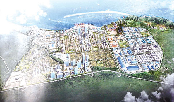 Map of the port and special economic zone